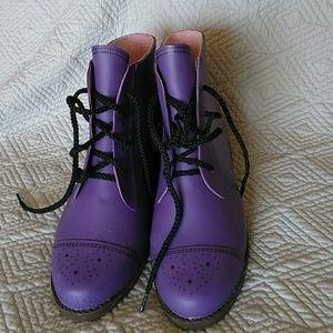 Jeffrey Campbell purple rain boots